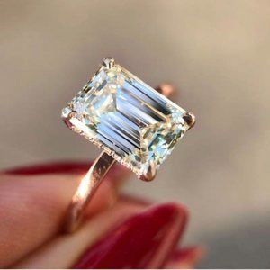 Women Square Cubic Zirconia Ring Size 10